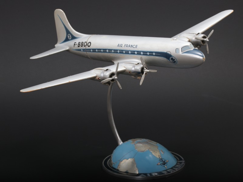 For sale: AIR FRANCE DOUGLAS DC4 F-BBDO  CIEL DE SAVOIE  1946 MAQUETTE AGENCE