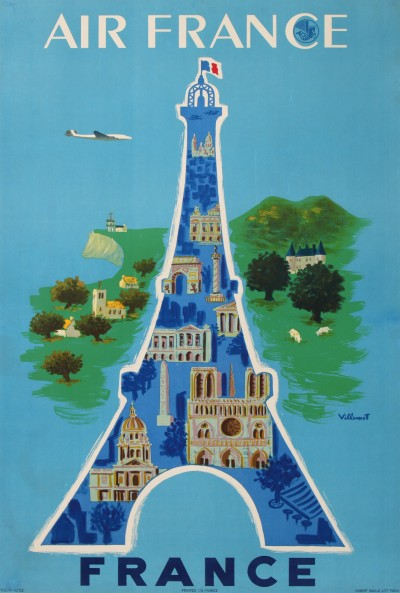 For sale: AIR FRANCE PARIS - FRANCE - LA TOUR EIFFEL, NOTRE DAME, LES INVALIDES ...