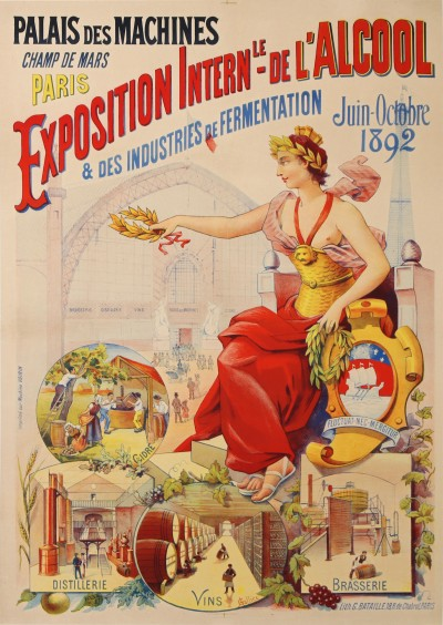 For sale: EXPOSITION INTERNATIONALE 1892 DE L'ALCOOL ET DES INDUSTRIES DE FERMENTATION