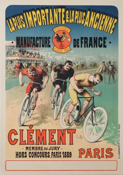 For sale: CYCLES CLEMENT MANUFACTURE DE FRANCE - COURSE CYCLISTE - CYCLING RACE - Affiche