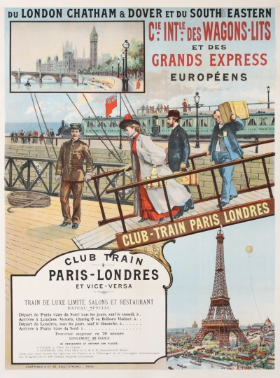 For sale: Cie INTERNATIONALE DES WAGONS LITS ET DES GRANDS EXPRESS CLUB - TRAIN PARIS LOND