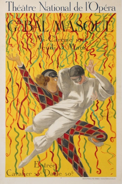 For sale: THEATRE NATIONAL DE L'OPERA GRAND BAL MASQUE 1921