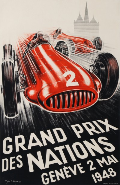 For sale: GRAND PRIX DES NATIONS AUTOMOBILES GENÈVE 2 MAI 1948 MASERATI