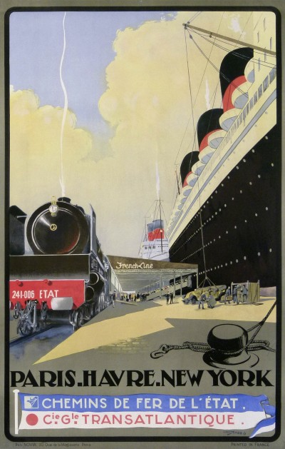 For sale: PARIS HAVRE NEW-YORK CHEMIN DE FER DE L'ETAT CIE GLE TRANSATLANTIQUE