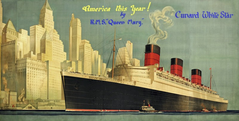 For sale: CUNARD WHITE STAR AMERICA BY RMS QUEEN MARY