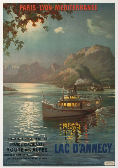 For sale: LAC D'ANNECY ROUTE DES ALPES TRAINS PLM