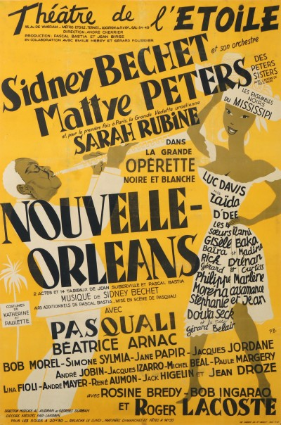 For sale: THEATRE DE L4ETOILE SYDNEY BECHET MATTYE PETERS