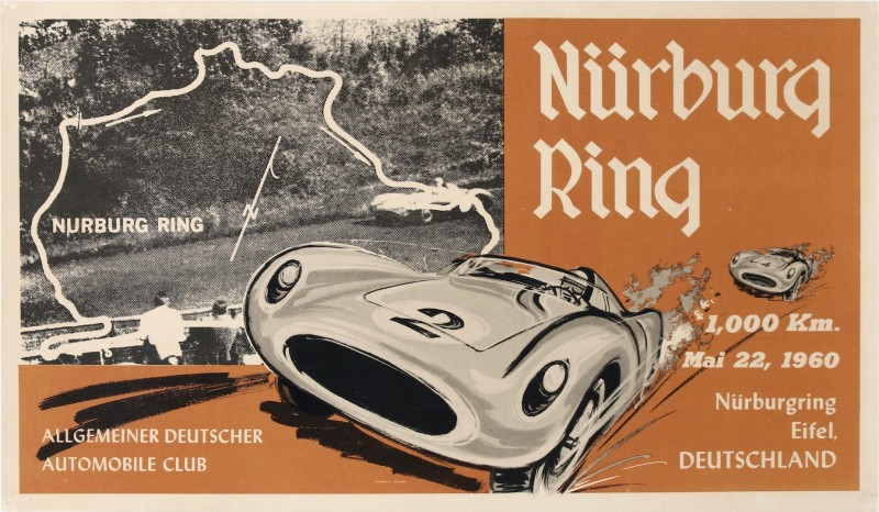 For sale: NURBURGRING 1000Km 1960 ALLGEMEINER DEUTSCHER AUTOMOBILE CLUB