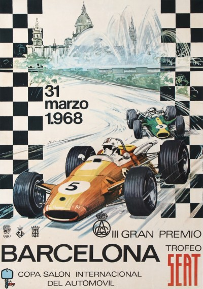 For sale: BARCELONA 3e GRAND PREMIO TROFEO SEAT 1968 COPA SALON INTERNACIONAL DEL AUTOMOVI