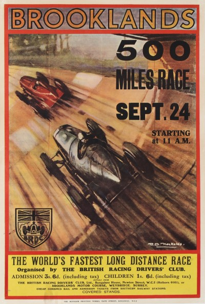 For sale: BROOKLANDS 500 MILES RACE  September 24