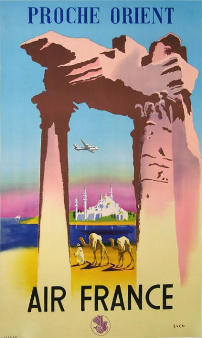 For sale: AFFICHE ANCIENNE AIR FRANCE PROCHE ORIENT par EVEN