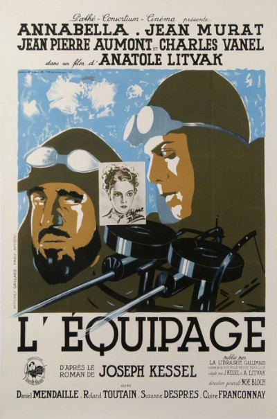 For sale: AFFICHE ANCIENNE FILM L PATHE  EQUIPAGE  ANNABELLA JEAN MURAT