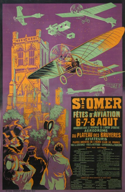 For sale: SAINT OMER FETE D AVIATION - AFFICHE ANCIENNE