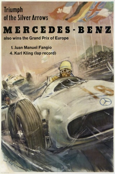 For sale: MERCEDES BENZ FANGIO KARL KLING GRAND PRIX EUROPE SILVER ARROWS