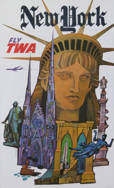 For sale: DAVID KLEIN FLY TWA NEW YORK