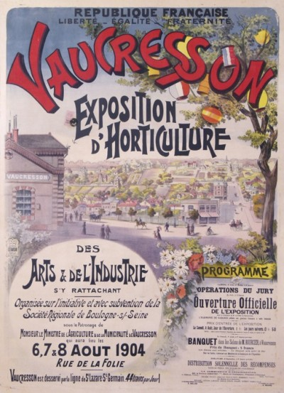 For sale: VAUCRESSON EXPOSITION D HORTICULTURE 190