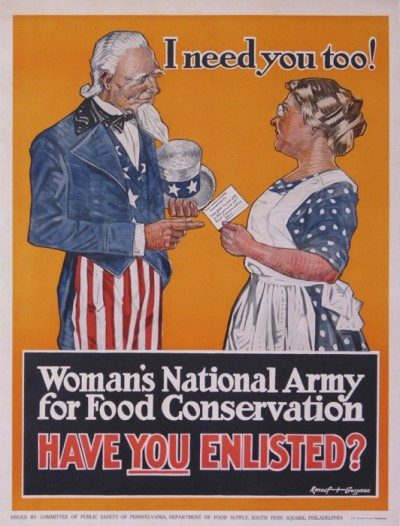 For sale: I NEED YOU TOO ! WOMAN S NATIONAL ARMY FOR FOOD CONSERVATION-HAVE YOU ENLISTED ?