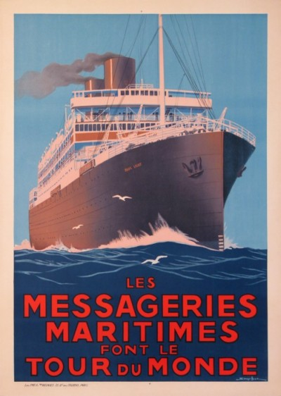 For sale: MESSAGERIE LES MARITIMES FONT LE TOUR DU MONDE