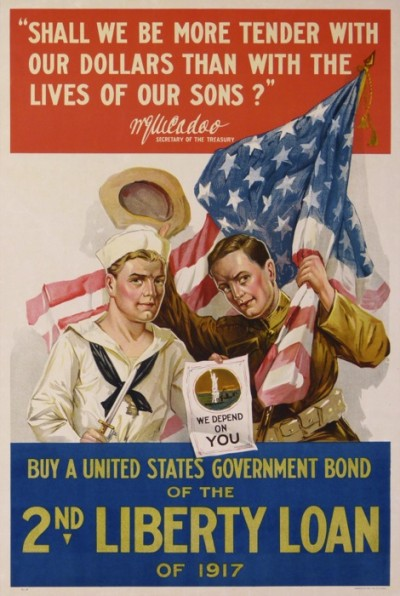 For sale: BUY A UNITED STATES GOVERNMENT BOND OF THE 2nd LIBERTY LOAN OF 1917