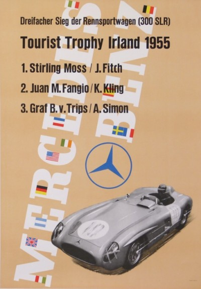 For sale: MERCEDES BENZ 300 SLR TOURIST TROPHY IRLAND 1955 1er STIRLING MOSS J.FITCH