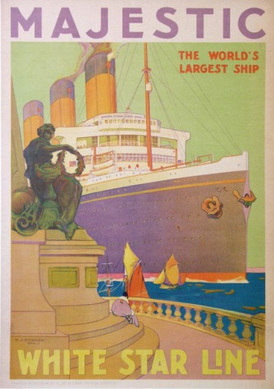 For sale: WHITE STAR LINE  MAJESTIC  THE WORLD'S LARGEST SHIP