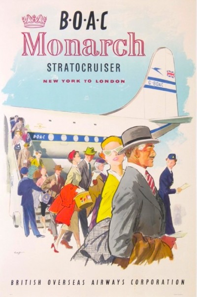 For sale: GOF    BOAC MONARCH STRATOCRUISER NEW YORK TO LONDON