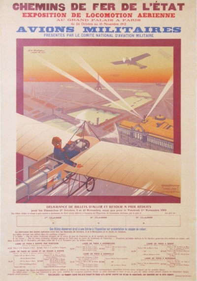 For sale: GRAND PALAIS EXPOSITION DE LOCOMOTION AERIENNE 1912  AVION MILITAIRES