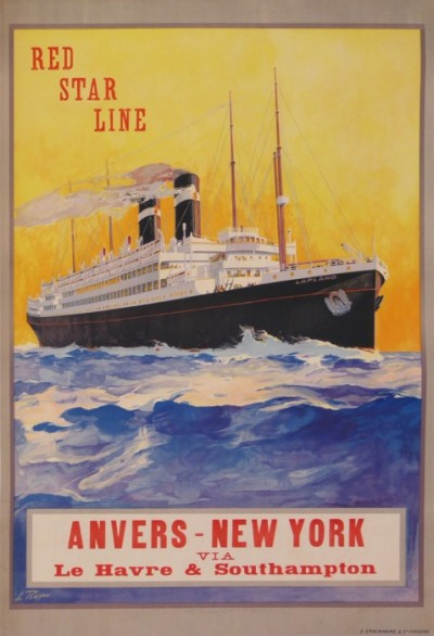 For sale: RED STAR LINE ANVERS-NEW-YORK  VIA LE HAVRE SOUTHAMPTON