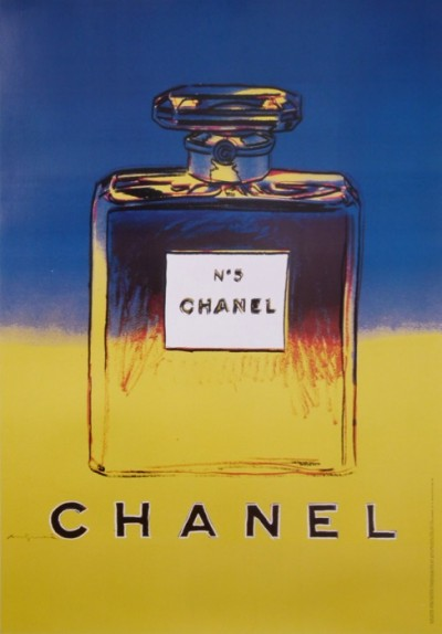 For sale: ANDY WARHOL CHANEL No 5  BLUE AND YELLOW  BLEU ET JAUNE