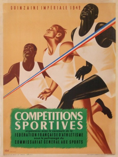 For sale: QUINZAINE IMPERIALE 1942 FEDERATION FRANÇAISE D'ATHLETISME COMPETITIONS
