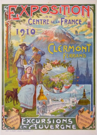 For sale: CLERMONT FERRAND EXPOSITION 1910 DU CENTRE FRANCE AUVERGNE